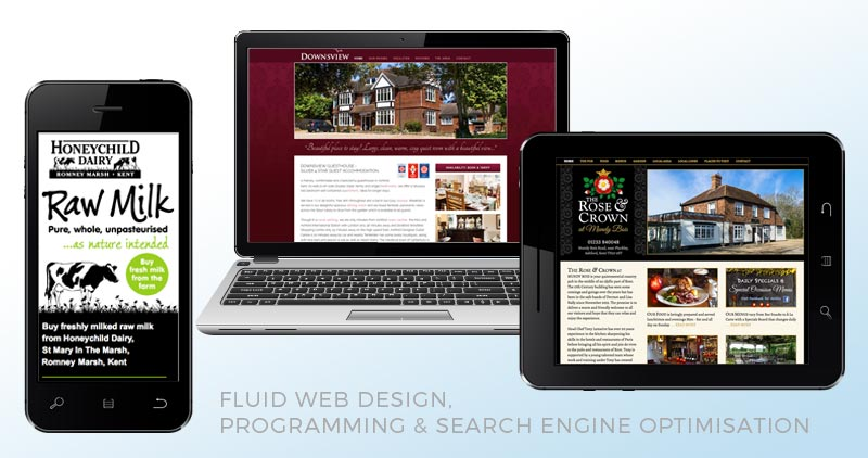 Fluid Web Design, Programming & Search Engine Optimisation